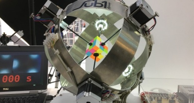 Robot solves Rubik's Cube in 0.637 seconds