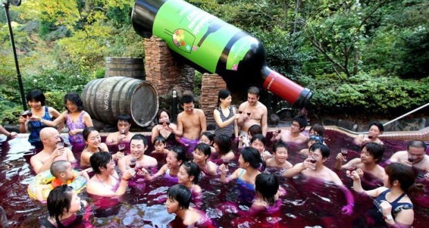 When winter is coming it is time to dip into warm red wine spa