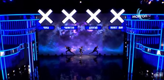 Unique combination of dance and computer effects in 'Mongolia's Got Talent' performance