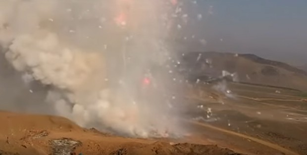Watch 21 tons of illegal fireworks explode in Peru