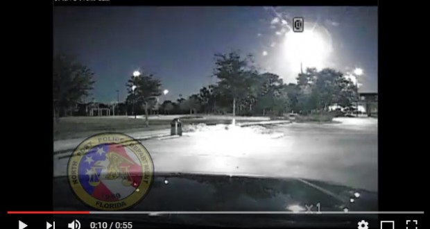 Florida police caught mysterious fireball in night sky - video