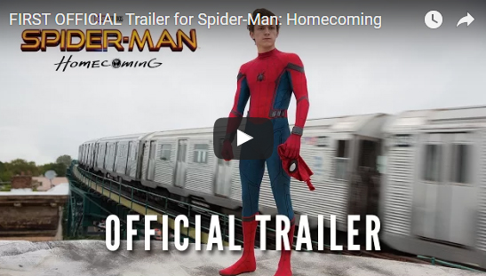 "First official trailer for ""Spider-Man: Homecoming"" released"