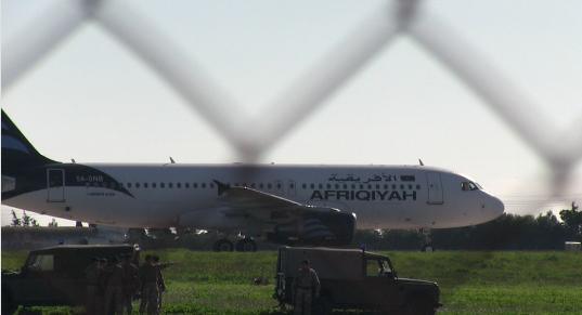 Hijacked Libyan plane lands in Malta