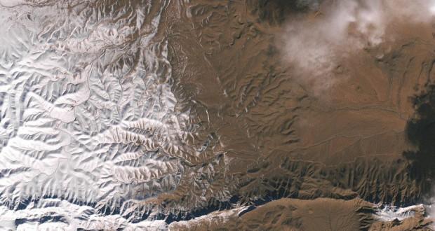 Stunning satellite image shows snowfall over Sahara