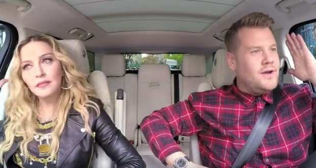 Madonna joins James Corden for 'Carpool Karaoke'