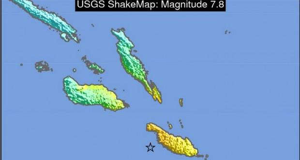 7.8 earthquake near Solomon Islands, tsunami alert issued for South Pacific