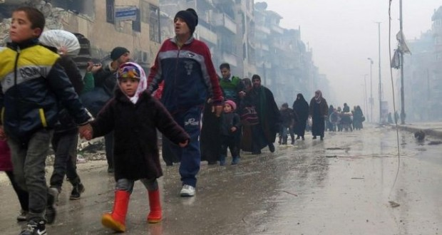 Aleppo evacuation suspended after 24-hour period as blasts reported at departure point