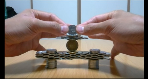 Japanese artist creates impossible sculptures with coins