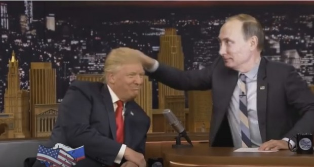 'Don't you ever try to mess with Mr Putin': parody video suggests Russian president will lead in 'friendship' with Trump
