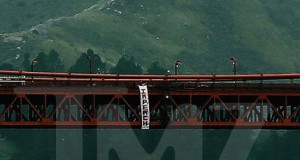 'Hollyweed' sign guy claims Golden Gate Trump protest banner