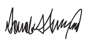 Donald Trump's Horrifying Signature Is a Cry for Help