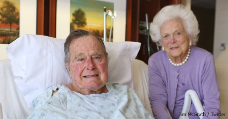 President George H.W. Bush moved out of ICU, Mrs. Bush released from hospital