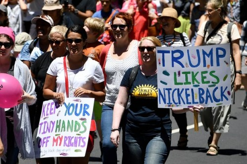 Protesters in Sydney Photograph: Dan Himbrechts/AAP