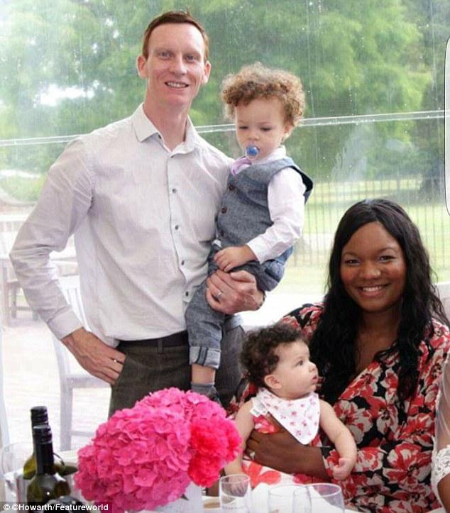 Family white baby has nigerian Black parents