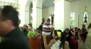 Brazilian wedding shooting: Gunman follows bride and groom in church as they walk down the aisle before pulling out a handgun and shooting at guests