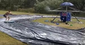 Australians have just made makeshift 'slip 'n slide' of your dreams