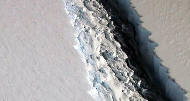 Biggest iceberg ever is ready to crack off Antarctica