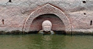 Ancient Buddha statue found in east China reservoir