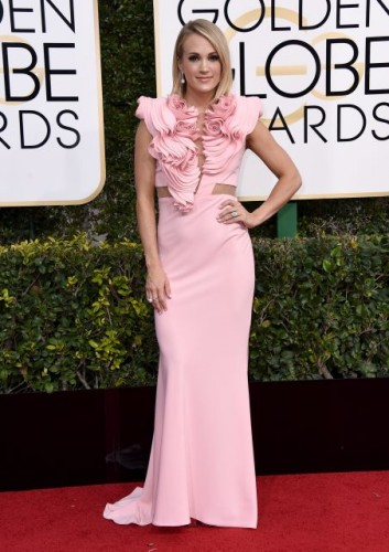 Carrie Underwood at the 74th annual Golden Globe Awards in Beverly Hills, California, January 8, 2017.
