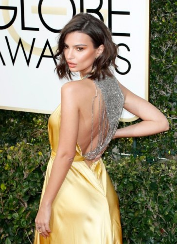 Emily Ratajkowski at the 74th annual Golden Globe Awards in Beverly Hills, California, January 8, 2017.