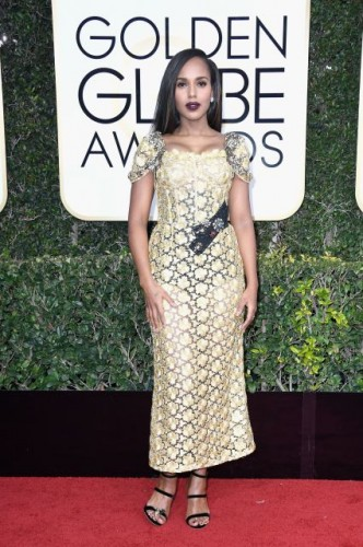 Kerry Washington at the 74th annual Golden Globe Awards in Beverly Hills, California, January 8, 2017.