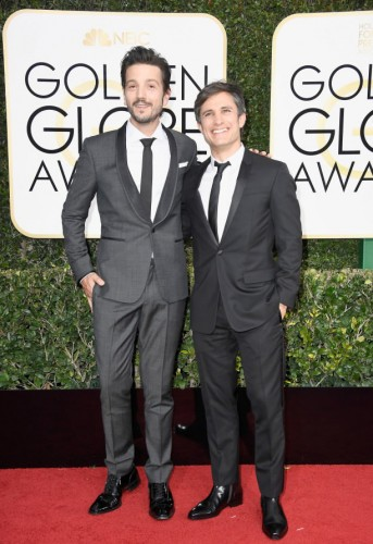 Diego Luna and Gael Garcia Bernal at the 74th annual Golden Globe Awards in Beverly Hills, California, January 8, 2017.