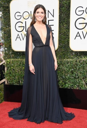 Mandy Moore at the 74th annual Golden Globe Awards in Beverly Hills, California, January 8, 2017.