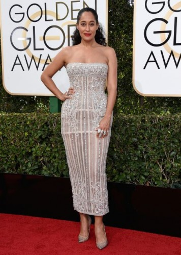 Tracee Ellis Ross at the 74th annual Golden Globe Awards in Beverly Hills, California, January 8, 2017.