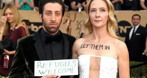 'Big Bang Theory' actor brings #MuslimBan protests to SAG Awards ceremony