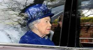 Queen Elizabeth II attends church in first public appearance since falling ill with cold