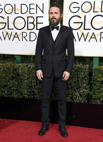 Casey Affleck at the 74th annual Golden Globe Awards in Beverly Hills, California, January 8, 2017.