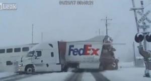 Shocking Video: Passenger Train Smashes Into FedEx Truck