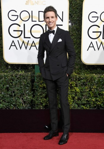 Eddie Redmayne at the 74th annual Golden Globe Awards in Beverly Hills, California, January 8, 2017.