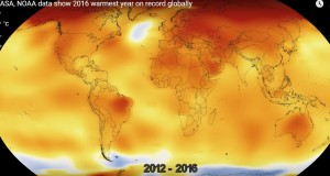 NASA video shows global warming from 1880 through 2016 in 20 seconds