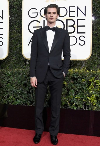 Andrew Garfield at the 74th annual Golden Globe Awards in Beverly Hills, California, January 8, 2017.