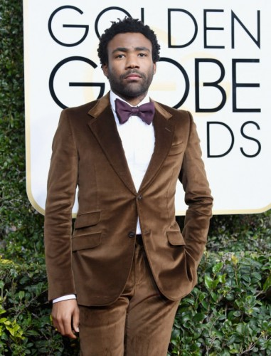 Donald Glover at the 74th annual Golden Globe Awards in Beverly Hills, California, January 8, 2017.