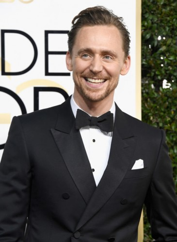 Tom Hiddleston at the 74th annual Golden Globe Awards in Beverly Hills, California, January 8, 2017.