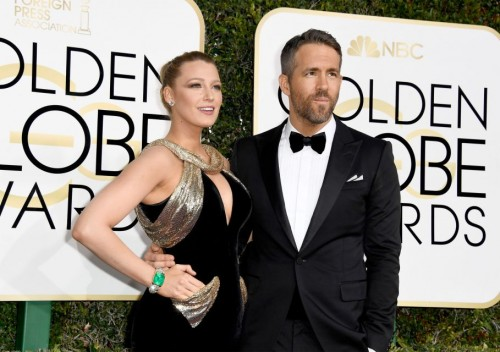 Blake Lively and Ryan Reynolds at the 74th annual Golden Globe Awards in Beverly Hills, California, January 8, 2017.