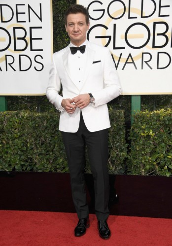 Jeremy Renner at the 74th annual Golden Globe Awards in Beverly Hills, California, January 8, 2017.