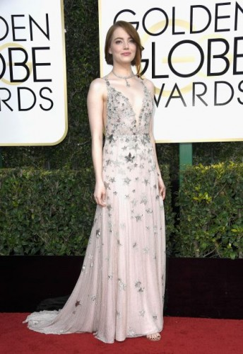 Emma Stone at the 74th annual Golden Globe Awards in Beverly Hills, California, January 8, 2017.