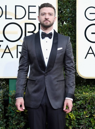 Justin Timberlake at the 74th annual Golden Globe Awards in Beverly Hills, California, January 8, 2017.