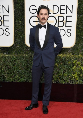 Milo Ventimiglia at the 74th annual Golden Globe Awards in Beverly Hills, California, January 8, 2017.