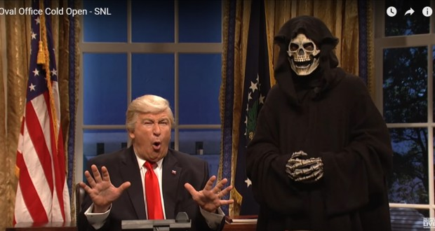 SNL Mocks Donald Trump's Advisor Steve Bannon as The Grim Reaper - Video