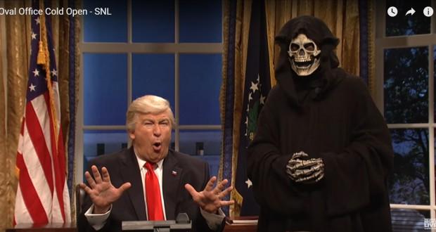 SNL Mocks Donald Trump's Advisor Steve Bannon as The Grim Reaper - Video