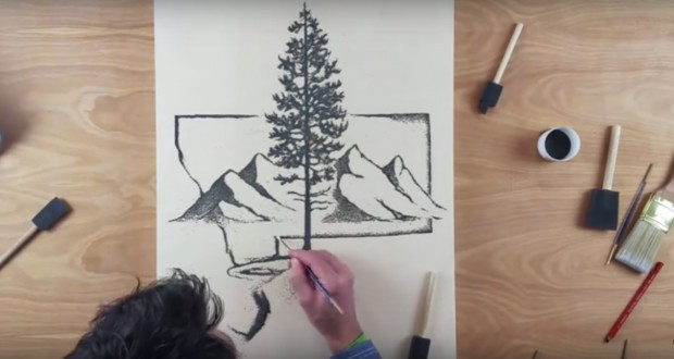 Artist creates artwork out of gunpowder and burns it when he's done