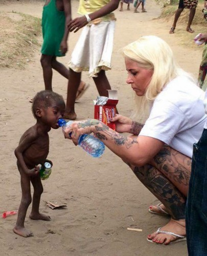 Anja Ringgren Lovén rescued abandoned Nigerian boy from starving on the streets