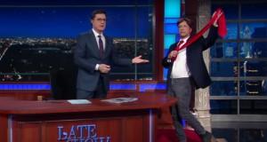 "Jon Stewart slams Trump on the ""Late Show"" - video"