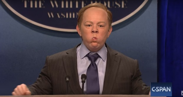 SNL: Melissa McCarthy Mocks White House Press Secretary Sean Spicer - Video