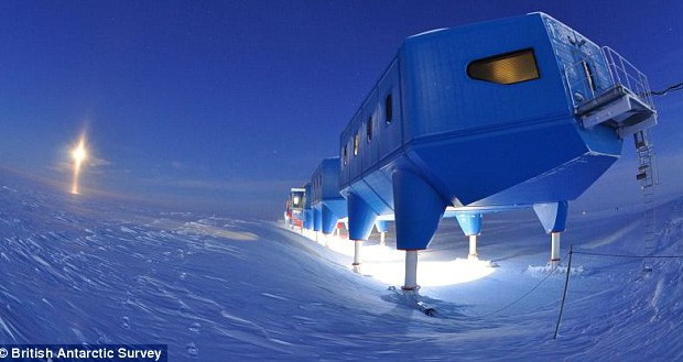 Antarctic research station moved 14 miles across an ice shelf to avoid a dangerous crack in the ice