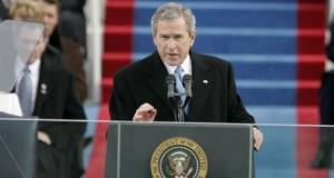 George W Bush backs free press in rare interview